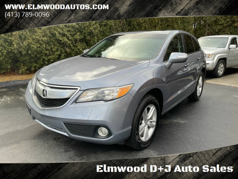 2014 Acura RDX for sale at Elmwood D+J Auto Sales in Agawam MA