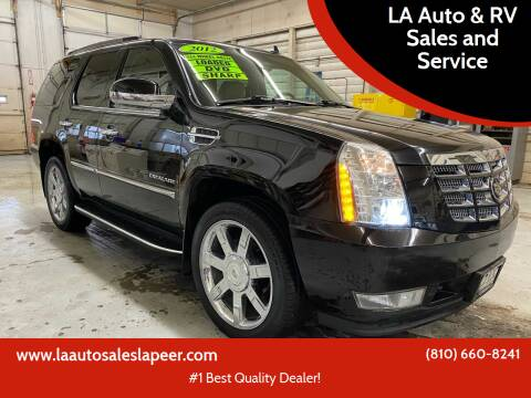 2012 Cadillac Escalade for sale at LA Auto & RV Sales and Service in Lapeer MI
