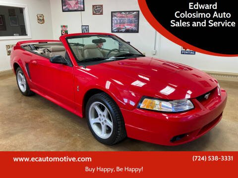 1999 Ford Mustang SVT Cobra for sale at Edward Colosimo Auto Sales and Service in Evans City PA