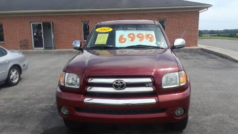 2003 Toyota Tundra for sale at Dun Rite Car Sales in Downingtown PA