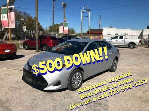 2018 Toyota Corolla for sale at Saipan Auto Sales in Houston TX