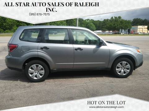 2009 Subaru Forester for sale at All Star Auto Sales of Raleigh Inc. in Raleigh NC