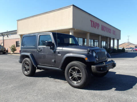 2017 Jeep Wrangler for sale at TAPP MOTORS INC in Owensboro KY