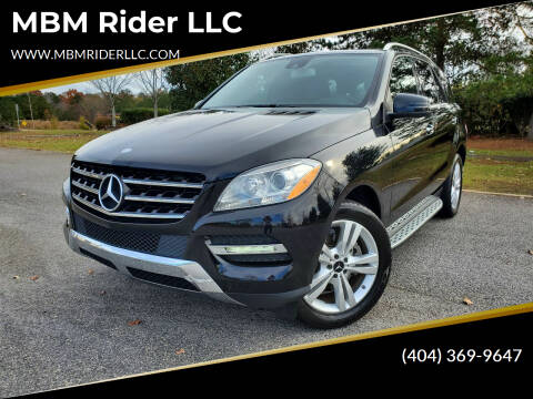 2013 Mercedes-Benz M-Class for sale at MBM Rider LLC in Alpharetta GA