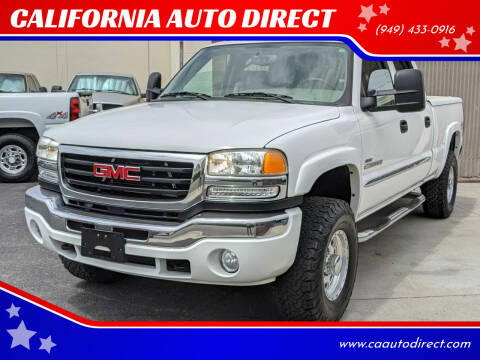 2005 GMC Sierra 2500HD for sale at CALIFORNIA AUTO DIRECT in Costa Mesa CA