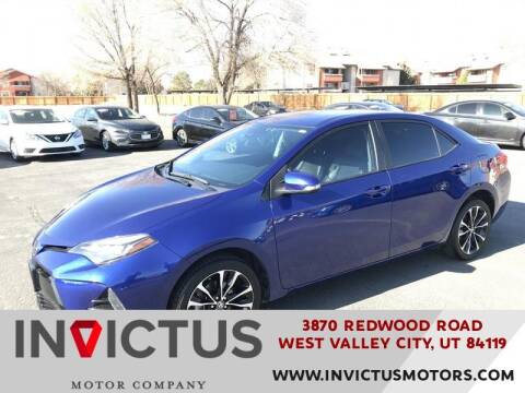 2018 Toyota Corolla for sale at INVICTUS MOTOR COMPANY in West Valley City UT