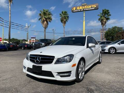 2013 Mercedes-Benz C-Class for sale at A MOTORS SALES AND FINANCE in San Antonio TX