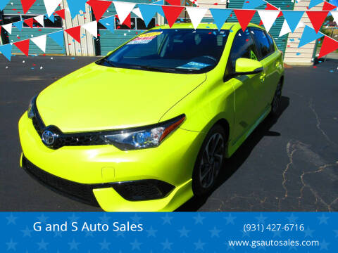 2017 Toyota Corolla iM for sale at G and S Auto Sales in Ardmore TN