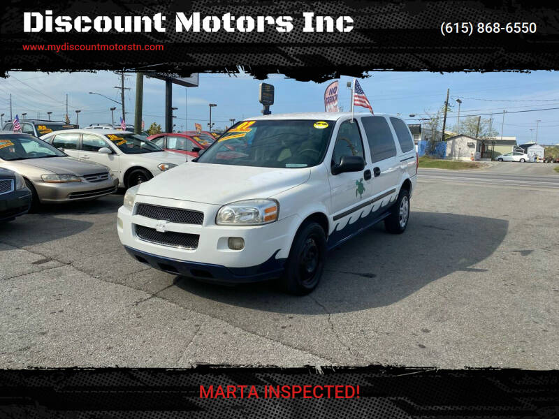 2007 Chevrolet Uplander for sale at Discount Motors Inc in Madison TN