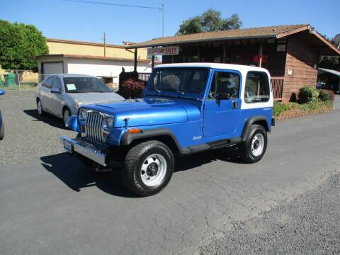 1992 Jeep Wrangler for sale at Manzanita Car Sales in Gridley CA