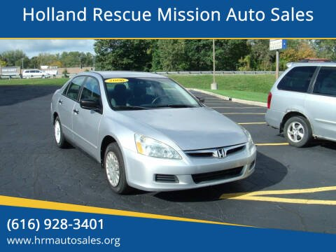 2006 Honda Accord for sale at Holland Rescue Mission Auto Sales in Holland MI