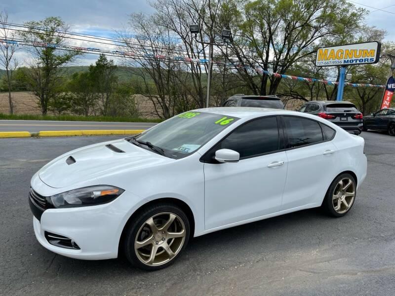 2016 Dodge Dart for sale at MAGNUM MOTORS in Reedsville PA