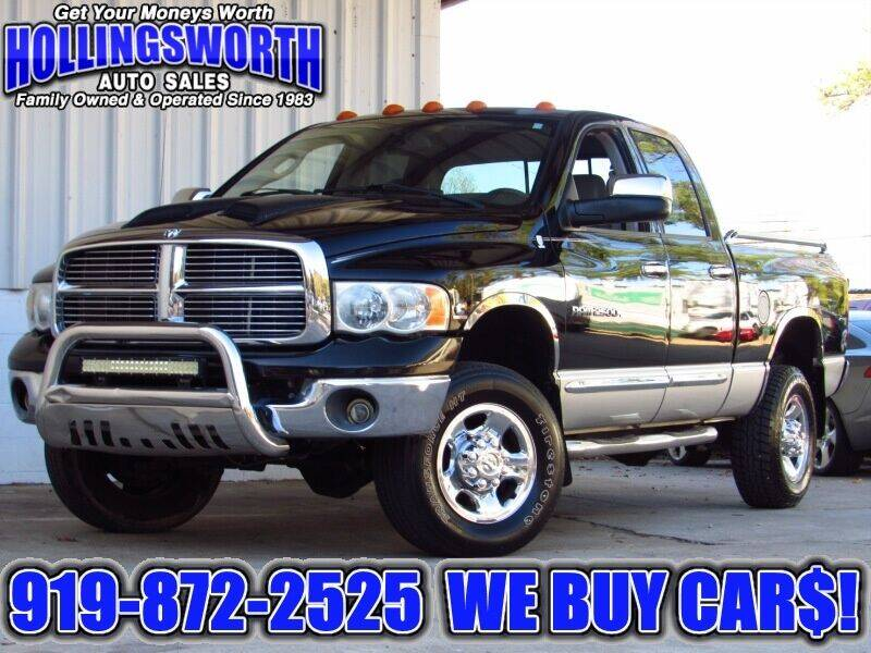 2005 Dodge Ram Pickup 2500 for sale at Hollingsworth Auto Sales in Raleigh NC