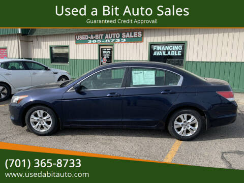 2008 Honda Accord for sale at Used a Bit Auto Sales in Fargo ND
