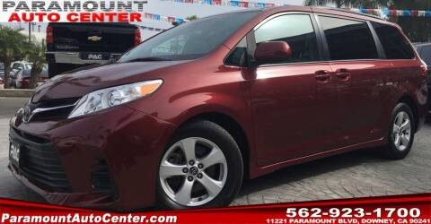 2019 Toyota Sienna for sale at PARAMOUNT AUTO CENTER in Downey CA