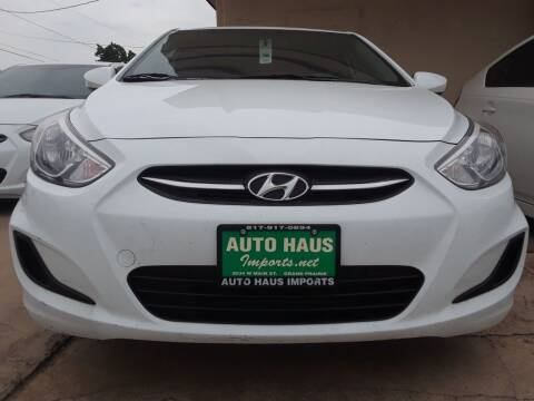 2016 Hyundai Accent for sale at Auto Haus Imports in Grand Prairie TX