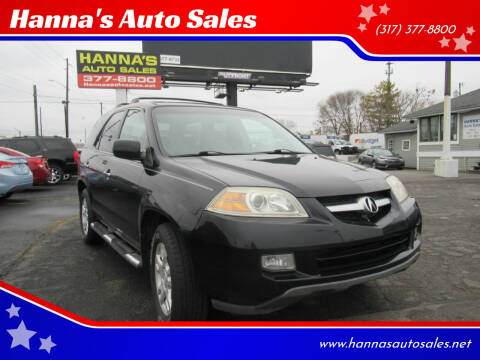 2005 Acura MDX for sale at Hanna's Auto Sales in Indianapolis IN