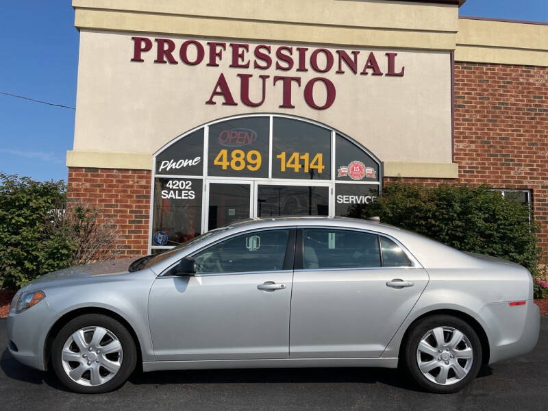 2012 Chevrolet Malibu for sale at Professional Auto Sales & Service in Fort Wayne IN