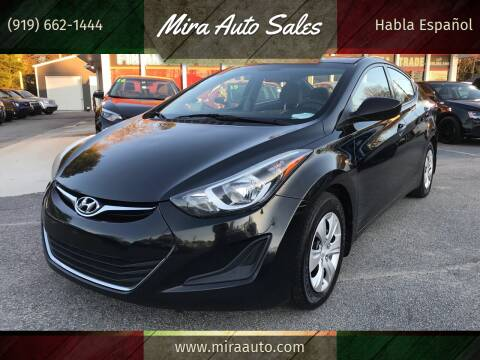 2016 Hyundai Elantra for sale at Mira Auto Sales in Raleigh NC