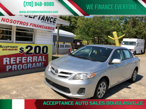 2011 Toyota Corolla for sale at Acceptance Auto Sales Douglasville in Douglasville GA