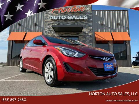 2016 Hyundai Elantra for sale at HORTON AUTO SALES, LLC in Linn MO