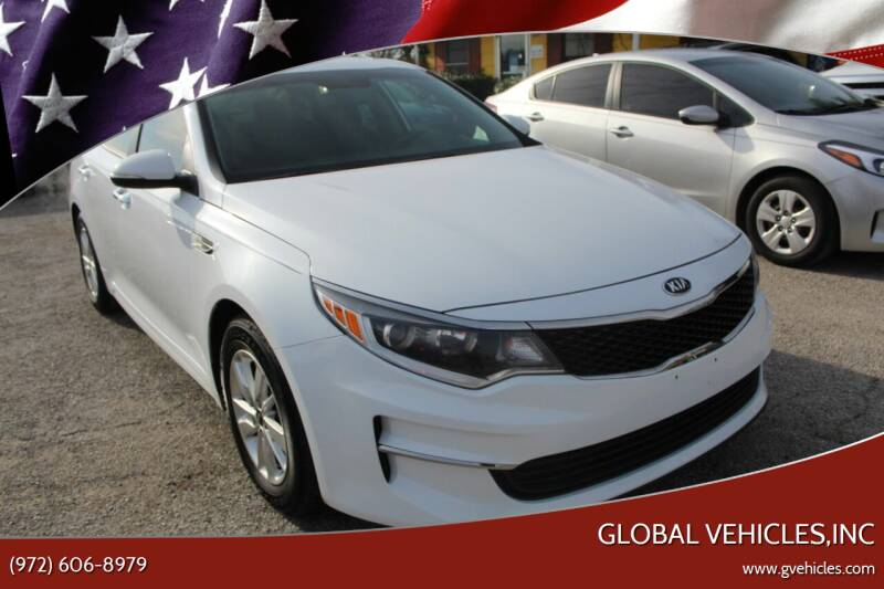 2016 Kia Optima for sale at Global Vehicles,Inc in Irving TX
