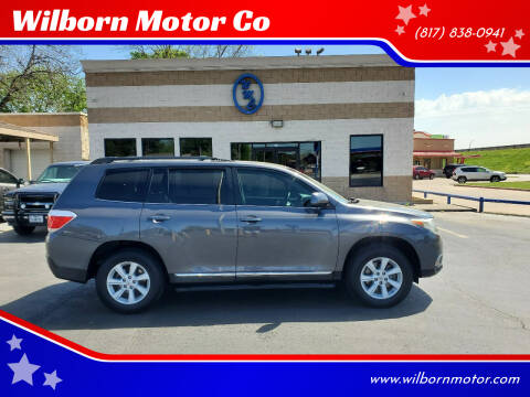 2013 Toyota Highlander for sale at Wilborn Motor Co in Fort Worth TX