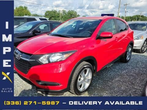 2016 Honda HR-V for sale at Impex Auto Sales in Greensboro NC
