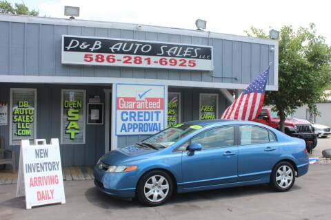 2007 Honda Civic for sale at D & B Auto Sales LLC in Washington Township MI