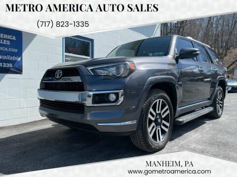 2015 Toyota 4Runner for sale at METRO AMERICA AUTO SALES of Manheim in Manheim PA