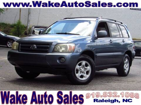 2007 Toyota Highlander for sale at Wake Auto Sales Inc in Raleigh NC