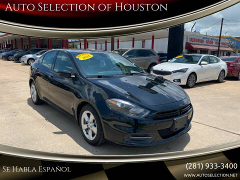 2016 Dodge Dart for sale at Auto Selection of Houston in Houston TX