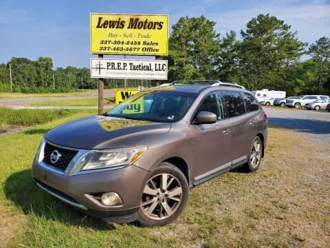 2014 Nissan Pathfinder for sale at Lewis Motors LLC in Deridder LA