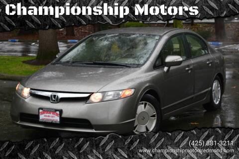 2007 Honda Civic for sale at Mudarri Motorsports - Championship Motors in Redmond WA