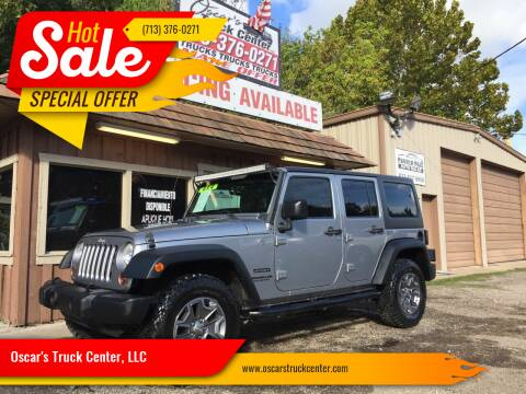 2013 Jeep Wrangler Unlimited for sale at Oscar's Truck Center, LLC in Houston TX
