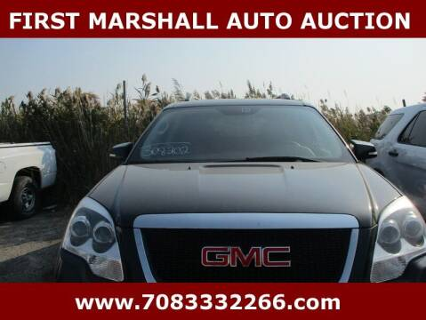 2012 GMC Acadia for sale at First Marshall Auto Auction in Harvey IL