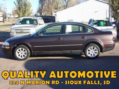 2004 Volkswagen Passat for sale at Quality Automotive in Sioux Falls SD
