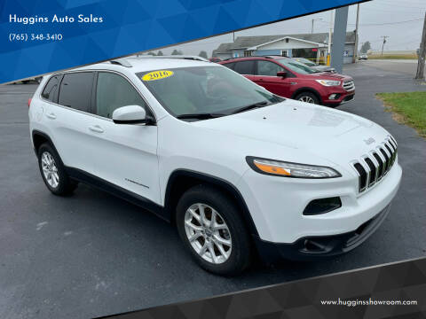 2016 Jeep Cherokee for sale at Huggins Auto Sales in Hartford City IN