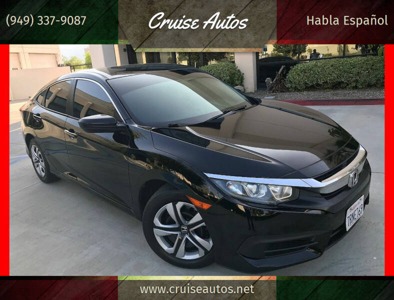 2016 Honda Civic for sale at Cruise Autos in Corona CA