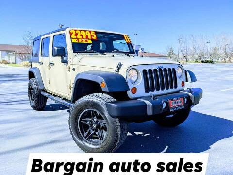 2011 Jeep Wrangler Unlimited for sale at Bargain Auto Sales LLC in Garden City ID