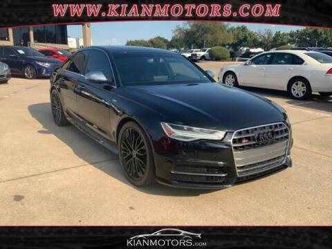 2016 Audi S6 for sale at KIAN MOTORS INC in Plano TX