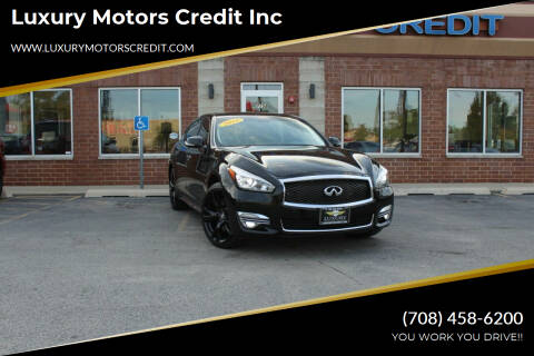 2016 Infiniti Q70L for sale at Luxury Motors Credit Inc in Bridgeview IL