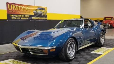 1972 Chevrolet Corvette for sale at UNIQUE SPECIALTY & CLASSICS in Mankato MN