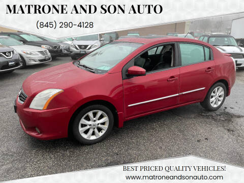 2012 Nissan Sentra for sale at Matrone and Son Auto in Tallman NY