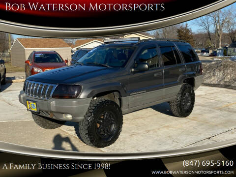2002 Jeep Grand Cherokee for sale at Bob Waterson Motorsports in South Elgin IL
