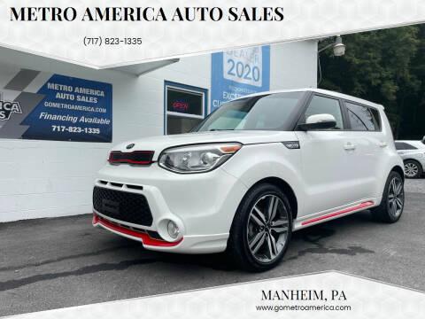 2014 Kia Soul for sale at METRO AMERICA AUTO SALES of Manheim in Manheim PA