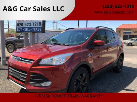 2016 Ford Escape for sale at A&G Car Sales  LLC in Tucson AZ