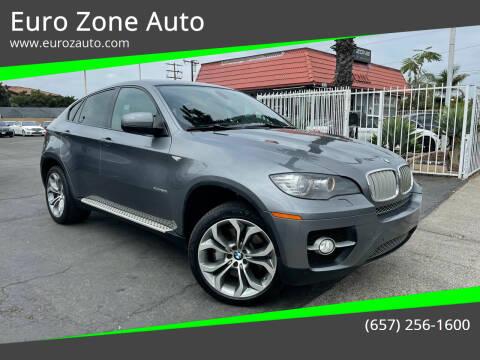 2012 BMW X6 for sale at Euro Zone Auto in Stanton CA