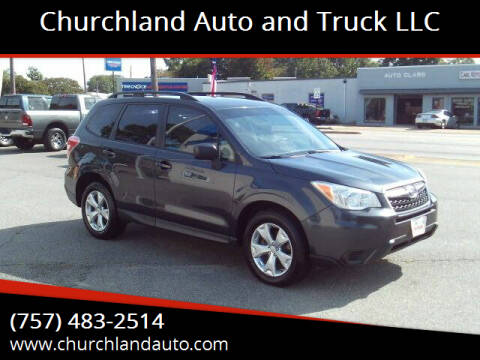 2015 Subaru Forester for sale at Churchland Auto and Truck LLC in Portsmouth VA