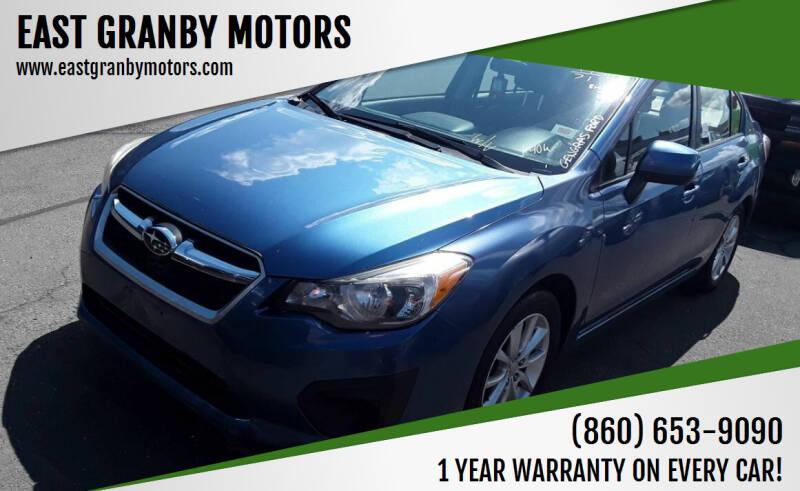 2014 Subaru Impreza for sale at EAST GRANBY MOTORS in East Granby CT